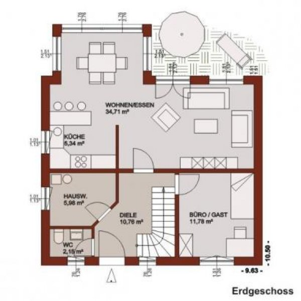 Großzügige Raumaufteilung Und Wintergartenelemente Inclusive